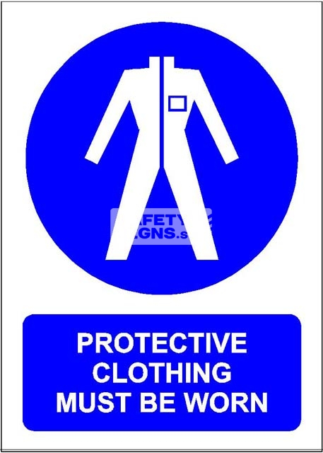 Protective Clothing Must be Worn. Aluminum - Suitable for outdoor use.
