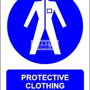 Protective Clothing Must Be Worn. PVC.