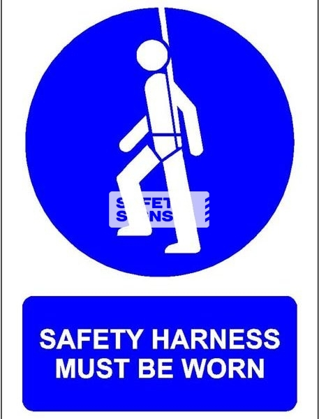 Safety Harness Must Be Worn. PVC.