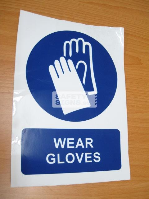 Wear Gloves. Vinyl Sticker.