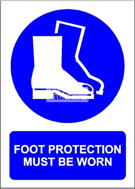 Foot Protection Must Be Worn. PVC.