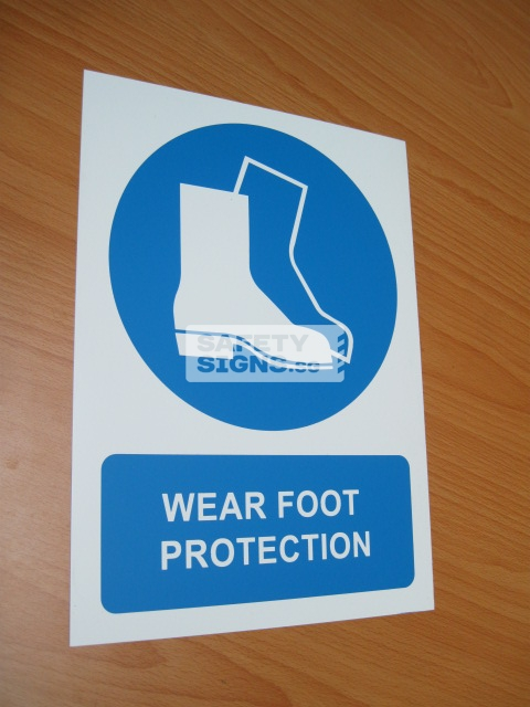 Wear Foot Protection. PVC.