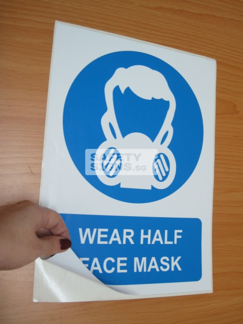 Wear Half Face Mask. Vinyl Sticker.