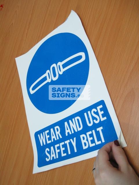 Wear And Use Safety Belt. Vinyl Sticker.
