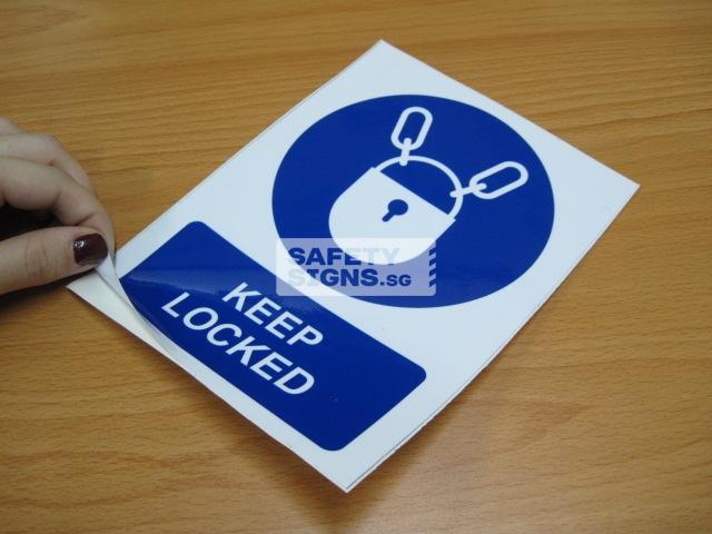 Keep Locked. Vinyl Sticker.