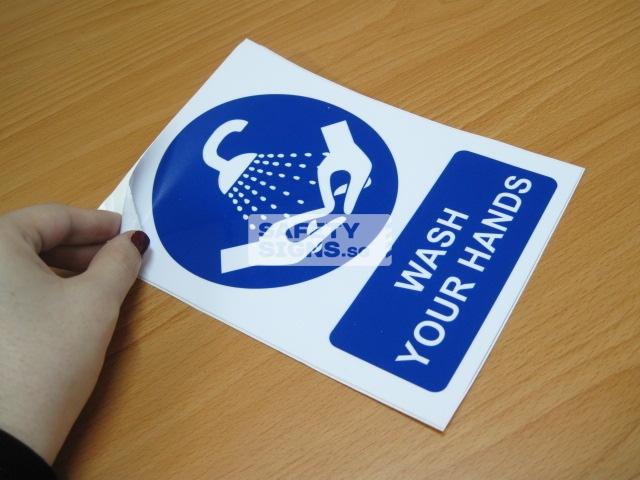 Wash Your Hands. Vinyl Sticker.