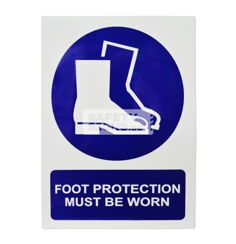 Foot Protection Must Be Worn. Aluminum - Suitable for outdoor use.