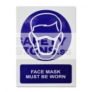 Face Mask Must Be Worn. Aluminum - Suitable for outdoor use.