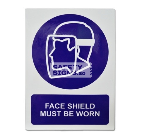 Face Shield Must Be Worn. Aluminum - Suitable for outdoor use.
