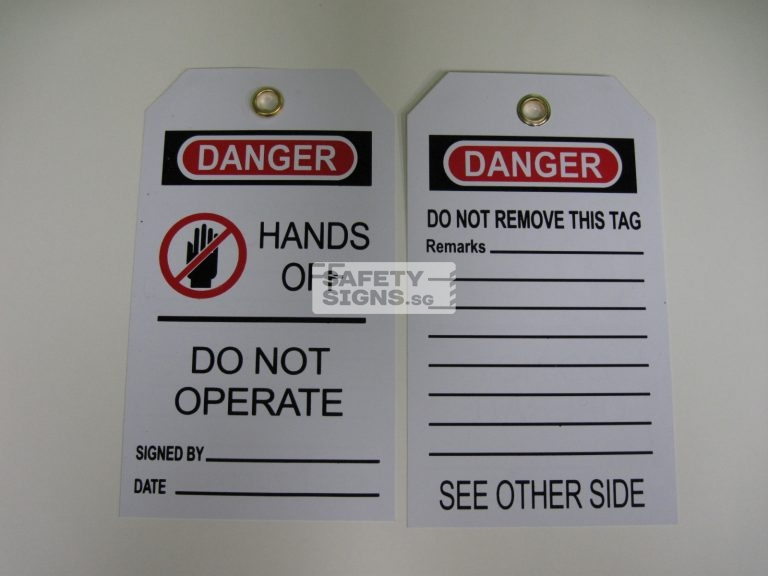 Hands Off Do Not Operate Tag