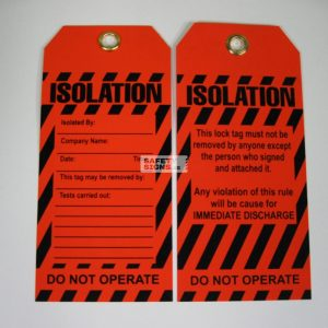 Isolation Lock Out Tag.
