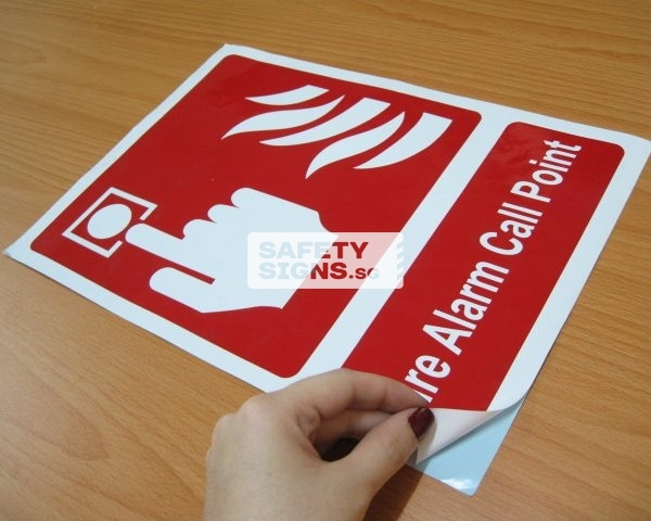 Fire Alarm Call Point. Vinyl Sticker.