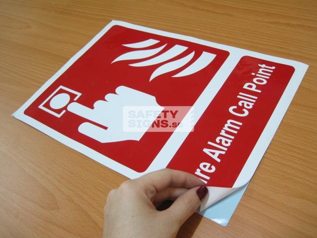 Fire Alarm Call Point. Vinyl Sticker.