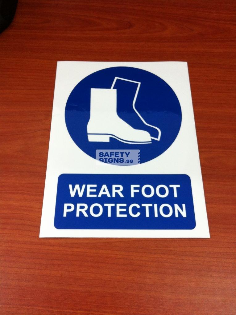 WEAR FOOT PROTECTION . Vinyl Sticker