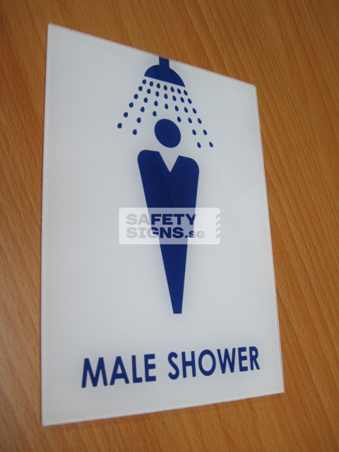 Male Shower . Acrylic - Suitable for indoor use.
