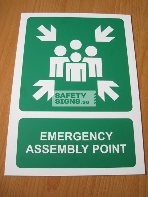 Emergency Assembly Point .PVC