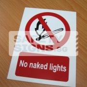 No Naked Lights. PVC.