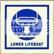 Lower Lifeboat. Luminous, Marine use.