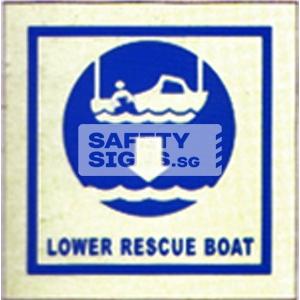 Lower Rescue Boat. Luminous, Marine use.