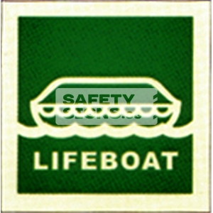 Lifeboat. Luminous, Marine use.