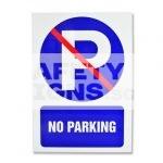 No Parking. Aluminum.