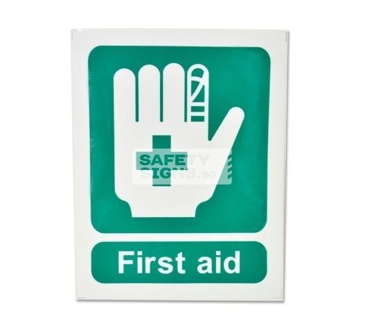 First Aid, Vinyl Sticker.