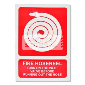 Fire Hose Reel with Instruction. Aluminum