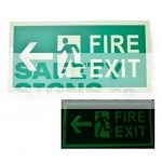 Fire Exit - Luminous - Left, Acrylic - Suitable for indoor use.