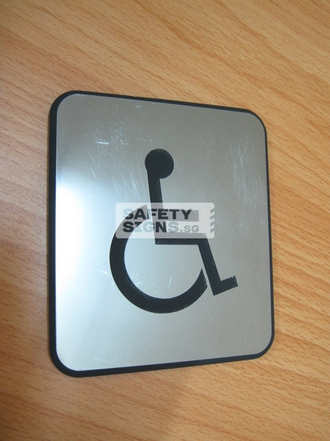Handicap Toilet, Stainless Steel + Acrylic Material.
