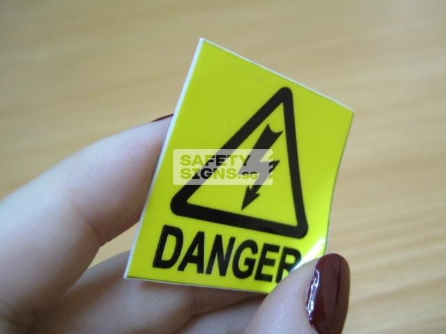 Danger, Vinyl sticker.