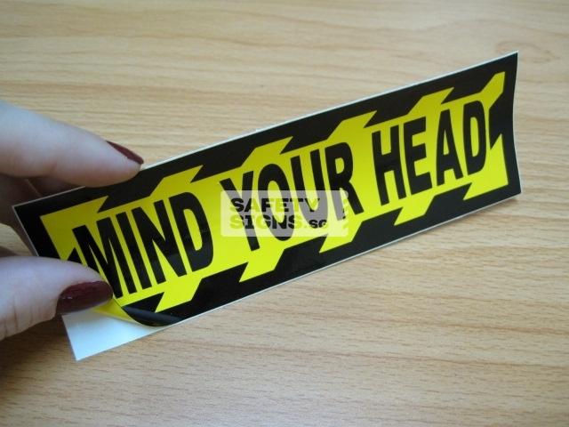 Mind Your Head, Vinyl Sticker.