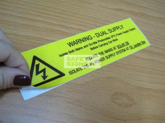 Warning Sticker.