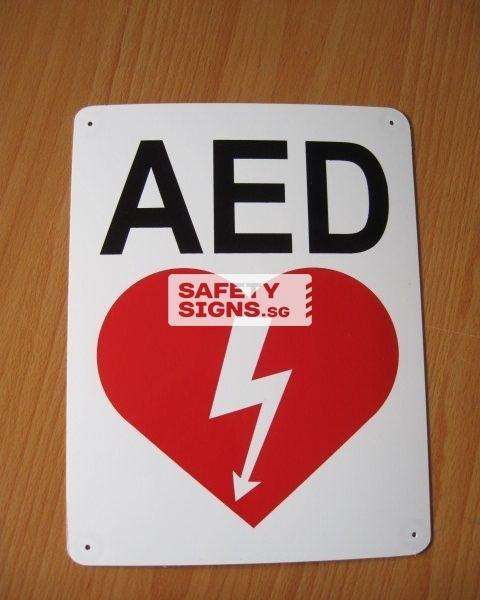 AED, PVC sign.