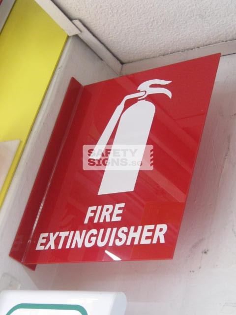 Fire Extinguisher 2 sided. Acrylic - Suitable for indoor use.