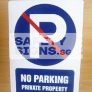 No Parking Private Property. Aluminum.
