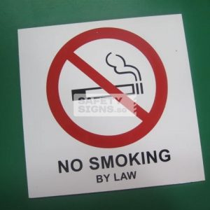 No Smoking By Law. Aluminum - Suitable for outdoor use.