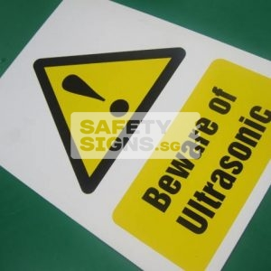 Beware of Ultrasonic, Vinyl Sticker.