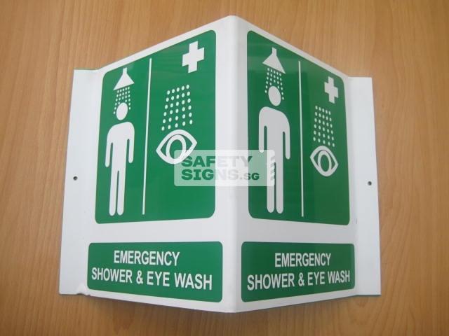 Emergency Shower & Eye Wash. Acrylic - Suitable for indoor use.