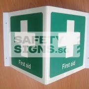 First Aid. Luminous. Acrylic - Suitable for indoor use.