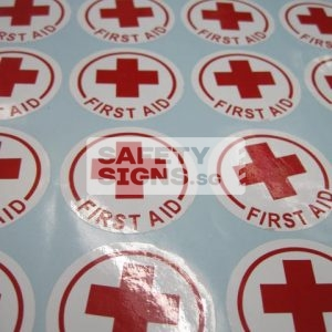 First Aid Helmet Markers. Vinyl Sticker.