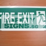 Fire Exit - Luminous. Acrylic - Suitable for indoor use.
