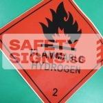 Flammable Hydrogen, Vinyl Sticker.
