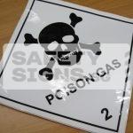 Poison Gas 2. Vinyl Sticker.