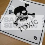 Toxic 6. Vinyl Sticker.