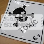 Toxic 6.1. Vinyl Sticker.