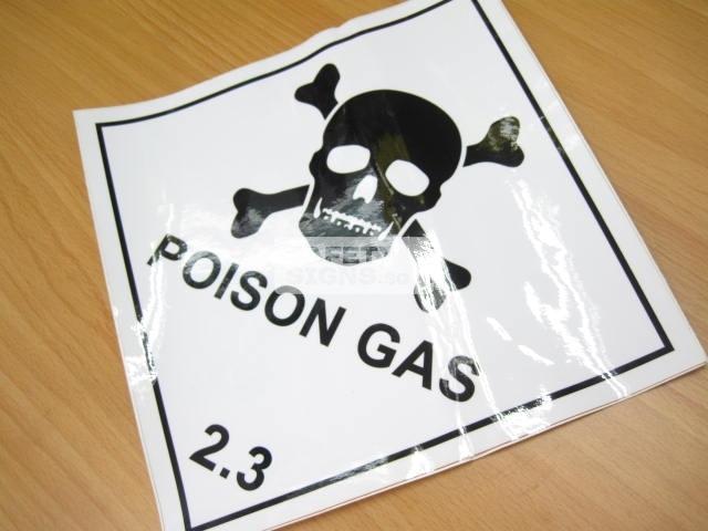 Poison Gas 2.3.. Vinyl Sticker.