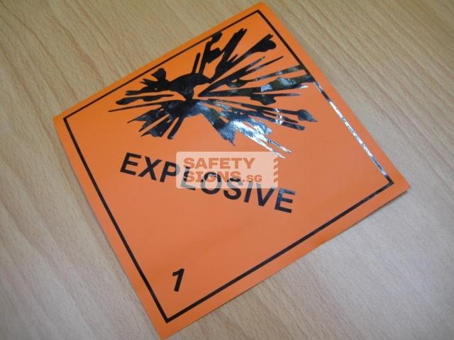 Explosive 1. Vinyl sticker.
