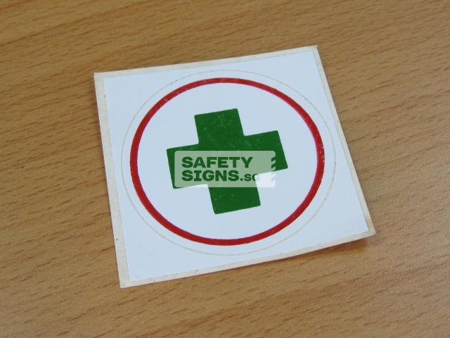 First Aid Helmet Markers. Vinyl Sticker.