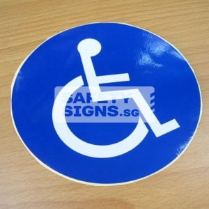 Handicap Label, Reflective Vinyl Sticker.