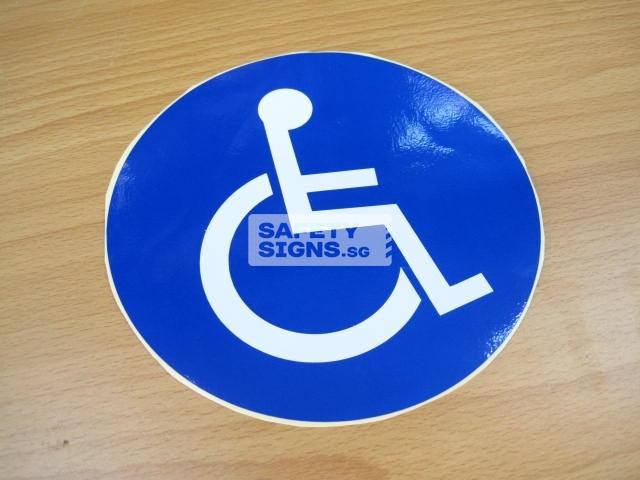 Handicap Label, Reflective Vinyl Sticker.